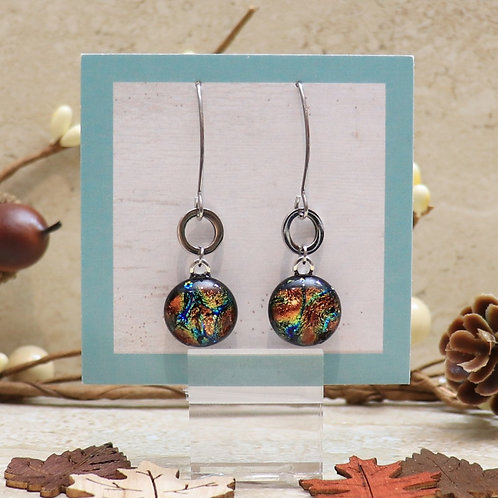 Orange, Gold and Blue Dichroic Dot Collection