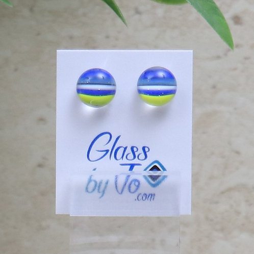 Blue, White and Lime Green