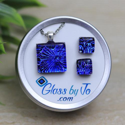Blue Florentine Dichroic