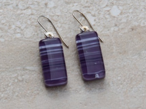 Purple with White and Black Stripes