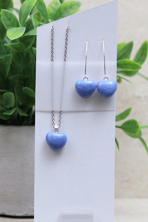 Light Blue / Gray Hearts Set