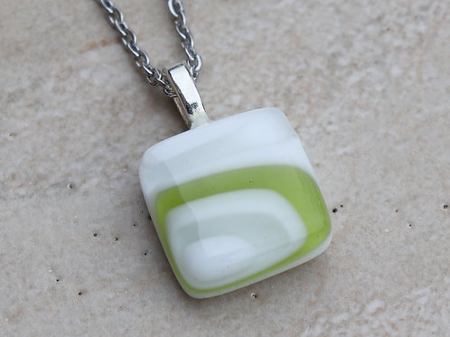 White, Clear and Lime Green