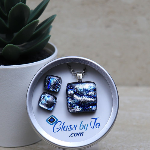 Silver and Blue Dichroic