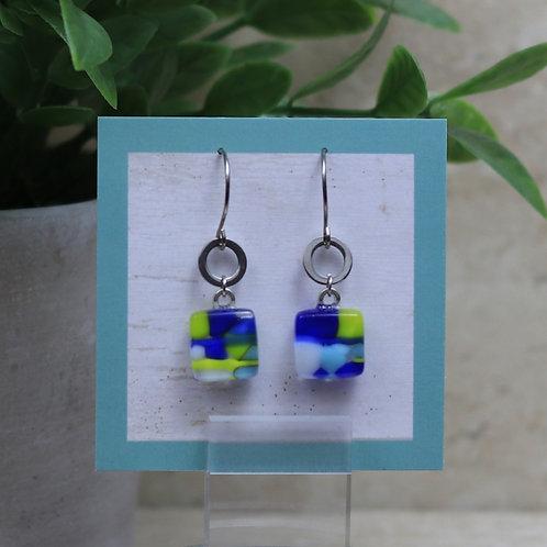 Blue, Lime, Aqua and White Pebble Collection