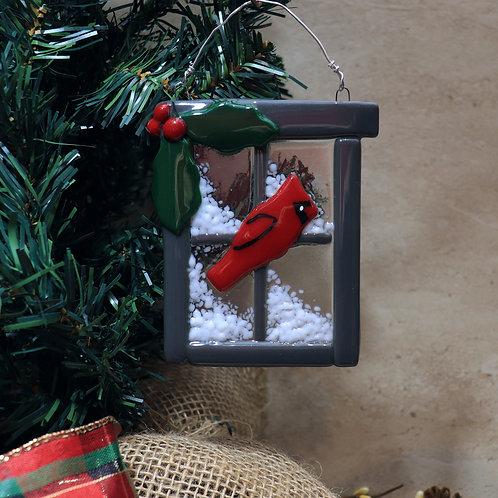 Cardinal in a Window
