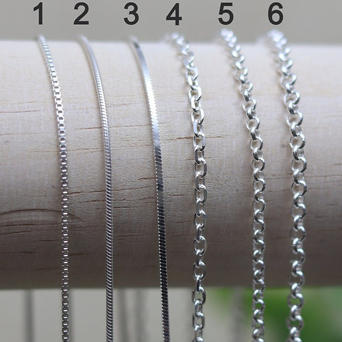 """16 """" Sterling Silver Chain"""