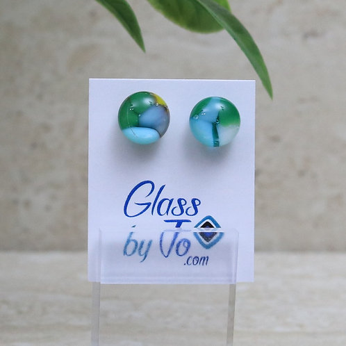 Blue, Green and Yellow Pebble Collection