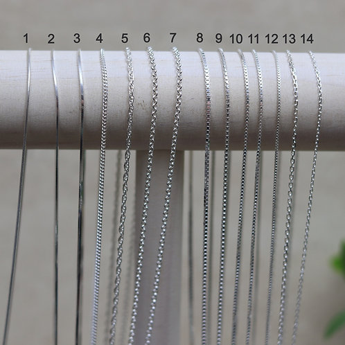 """20 """" Sterling Silver Chain"""