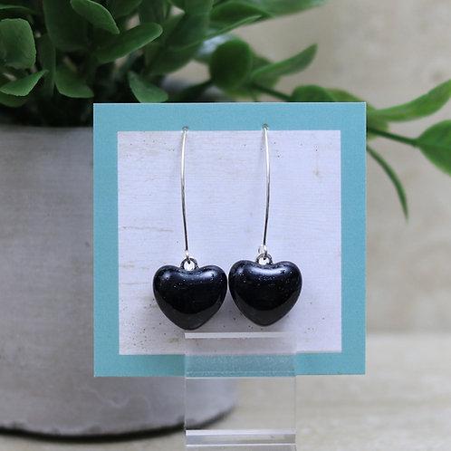 Dark Dark Blue Glass Heart