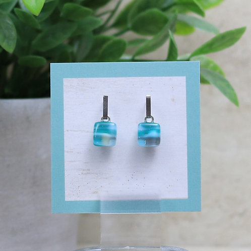 Teal, Blue and Gray Pebble Collection