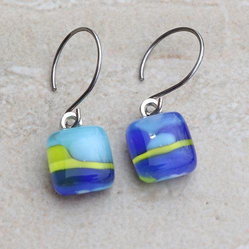 Blue, Lime and Aqua Pebble Collection