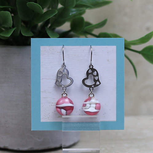 Pink and Vanilla Glass with Heart
