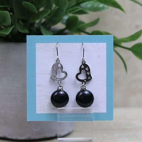 Black Glass with Heart