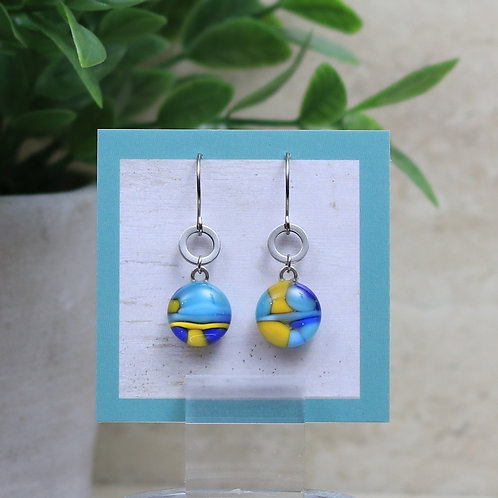 Aqua , Royal Blue and Yellow Pebble Collection