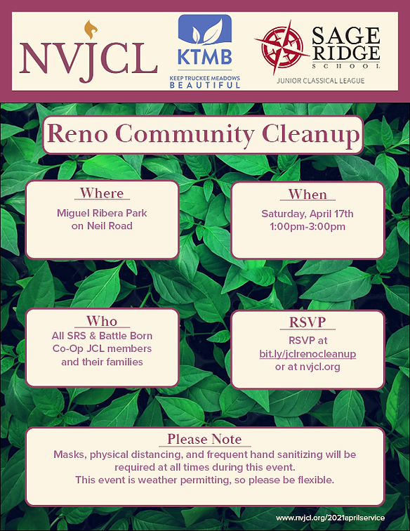 NVJCL-SRS-KTMB Reno Cleanup Event Poster
