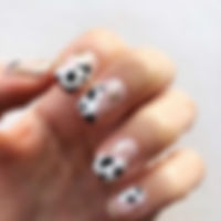 Another shot of these cow print nails -