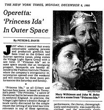 New York Times article on VLOG's Princess Ida in Space