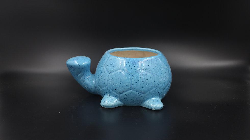 Tortoise Planter (Cornflower Blue)