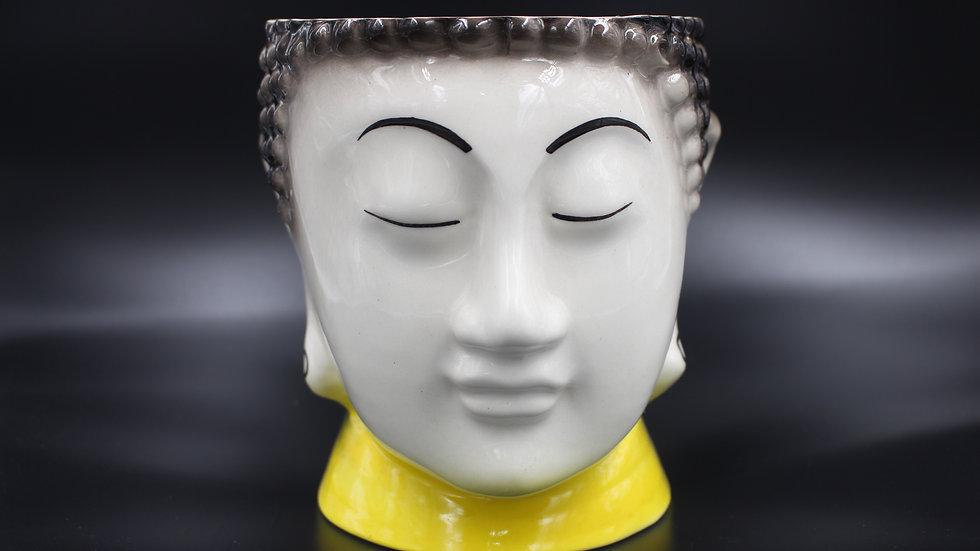 Buddha Planter (White & Yellow)