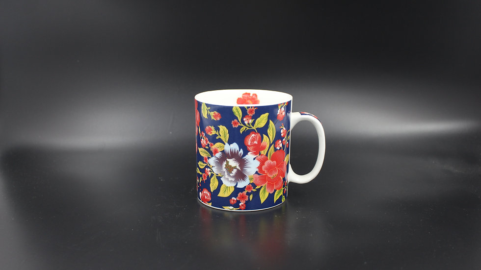 White Mug (Floral design)