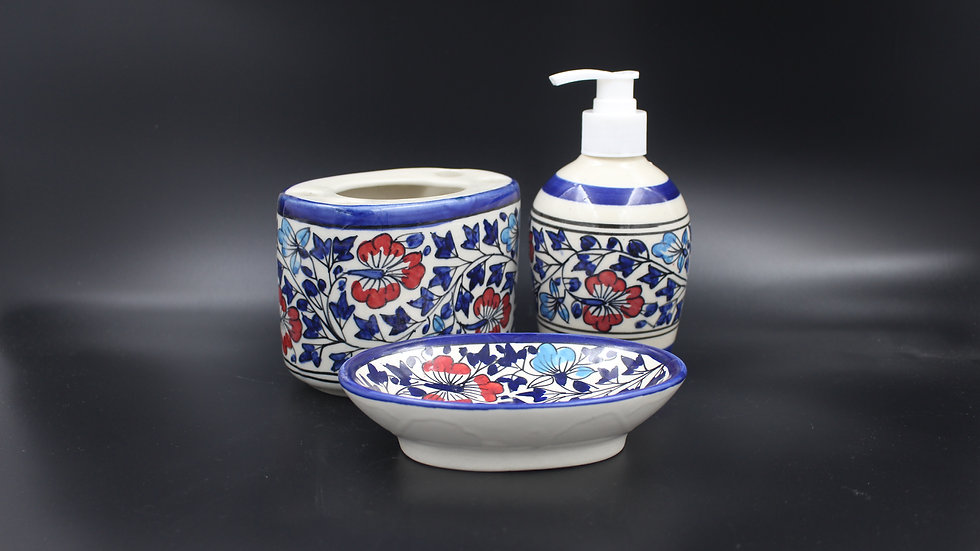 Bathroom Set (Cerulean Blue)