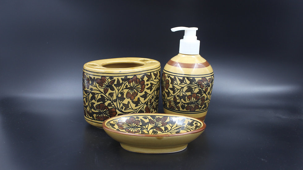 Bathroom Set (Golden Sand)