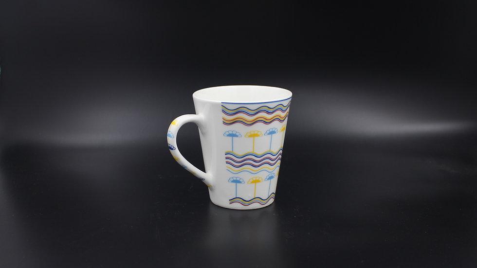 White Mug (Blue & Yellow flowers)