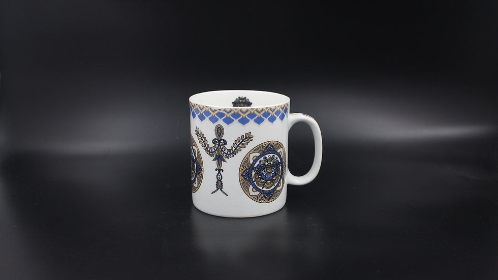 White Mug (Navy design)