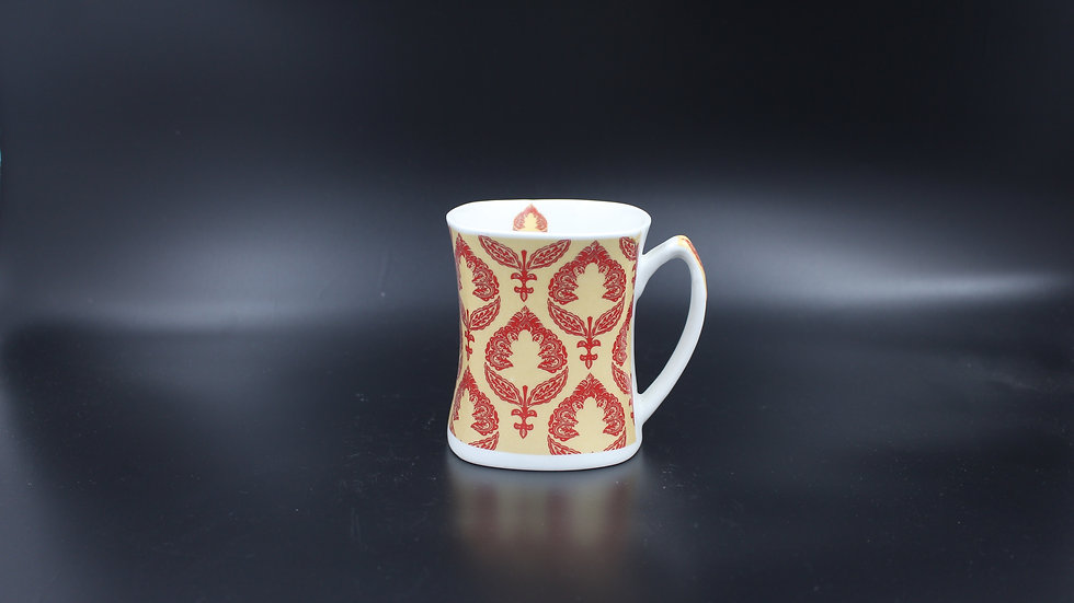 White Mug (Maroon design)