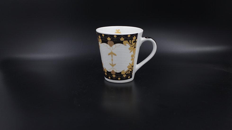 White Mug (Black & Gold)