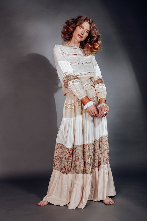 Vestido Largo Teñido