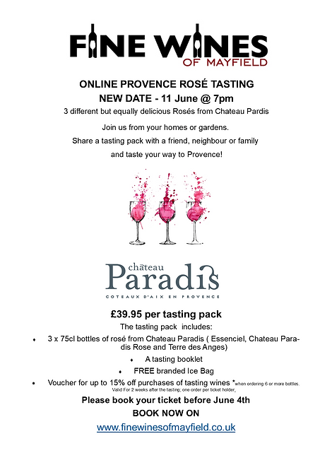 Chateau Paradis Tasting Pack and Ticket