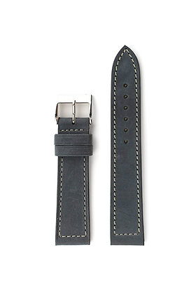 Black vintage calf saddler