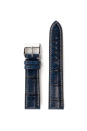 Dark blue patina alligator