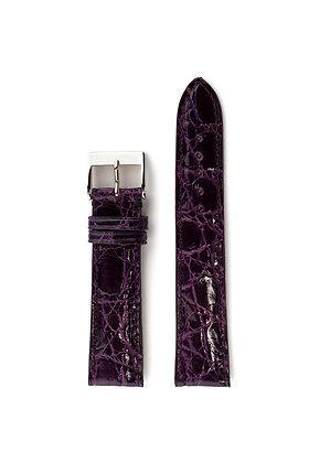Indigo purple glossy crocco