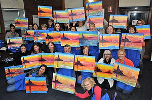 Paint and sip evening with Louise