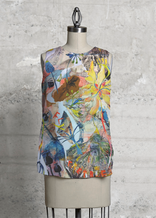 Flower and fawna top