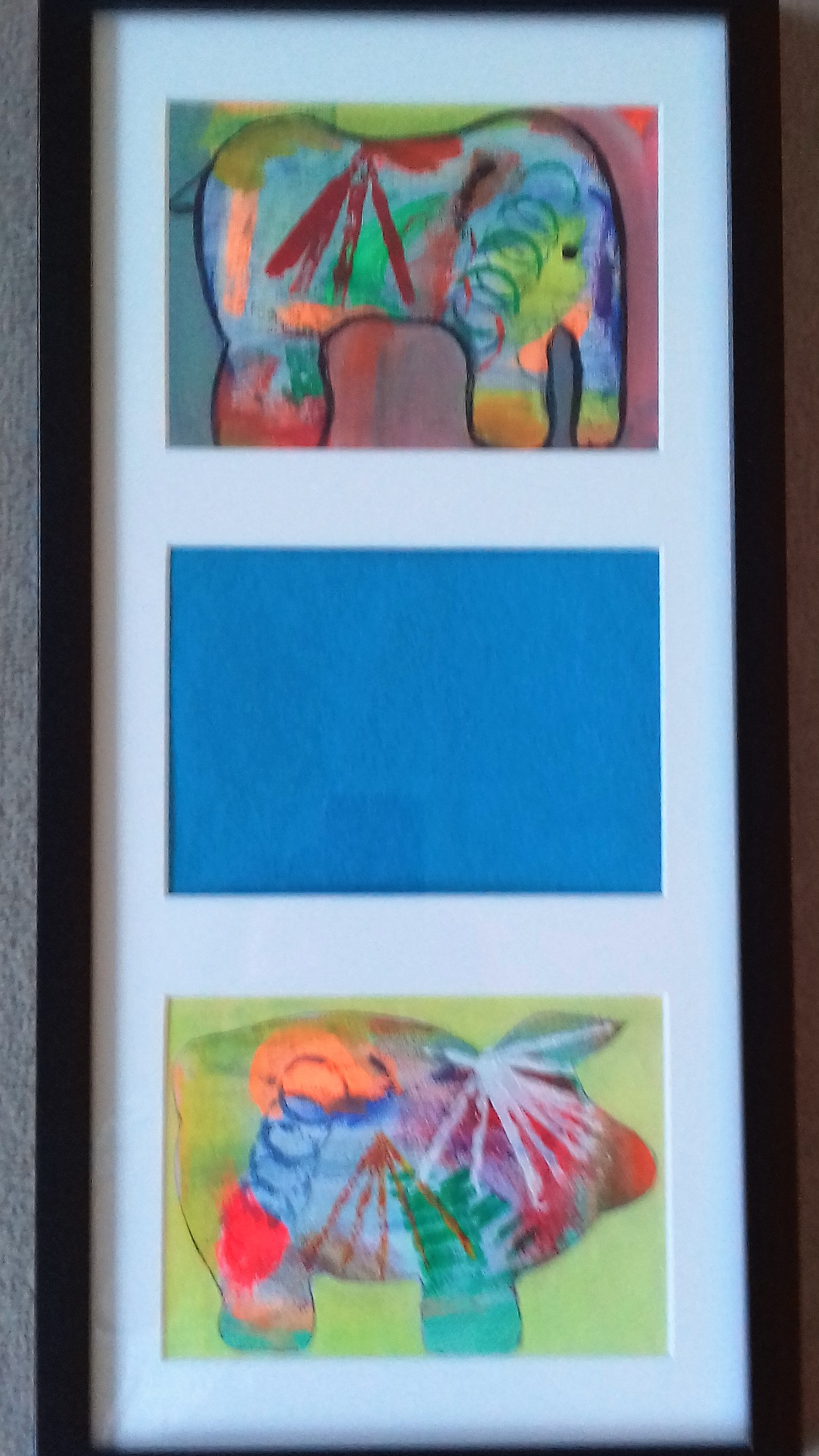 triptych turquoise