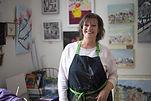 Liz Taylor working in the studio
