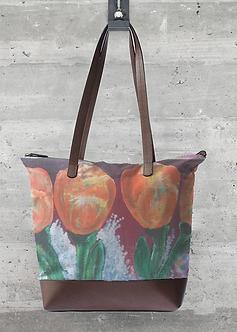 Orange Tulip Statement Bag