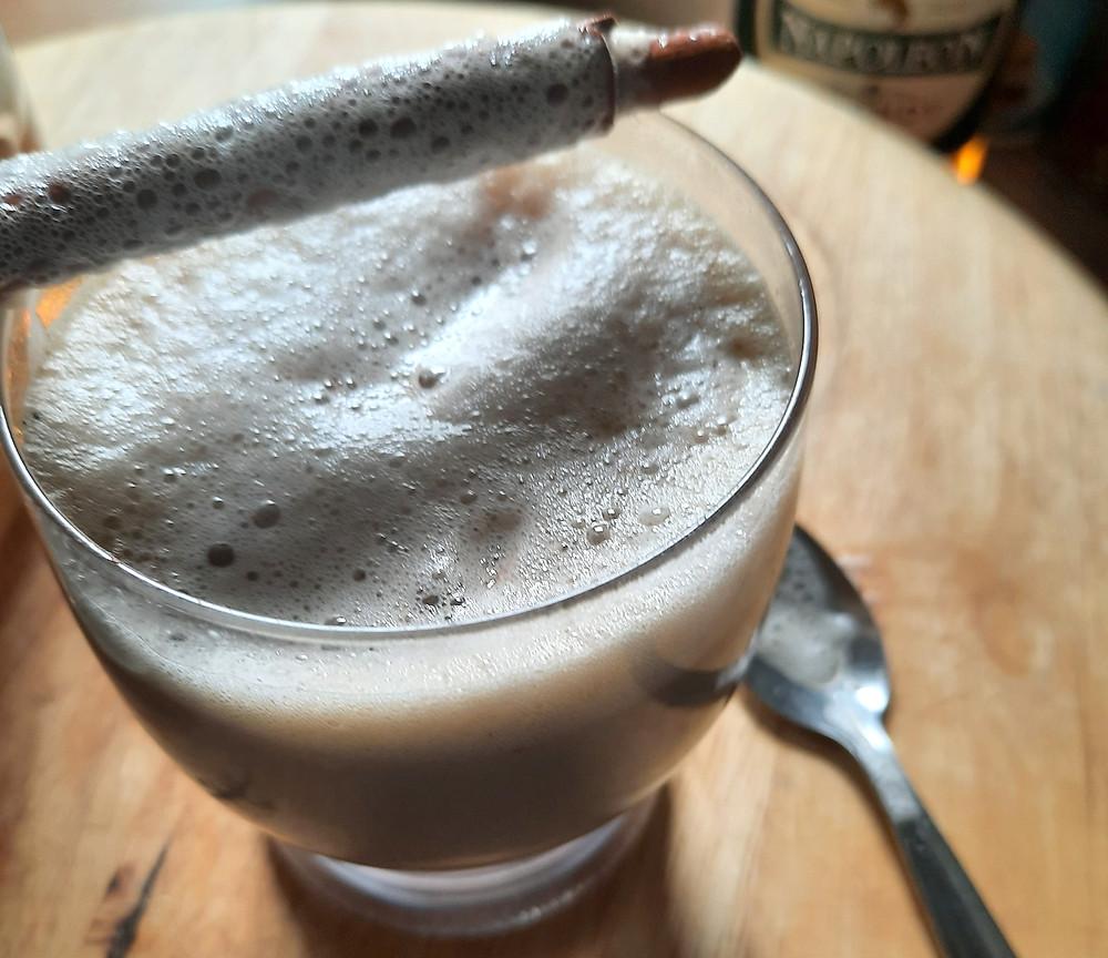 milky ice coffee