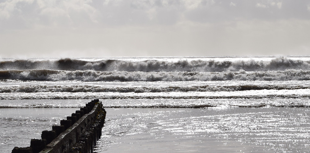 Tail-end of Storm Gareth at Amroth