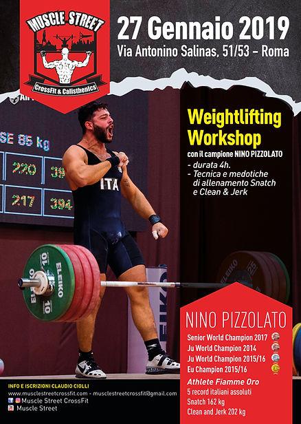 weightlifitng a roma, nino pizzolato