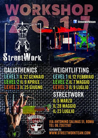 corsi di calisthenics, weightlifting, streetwork