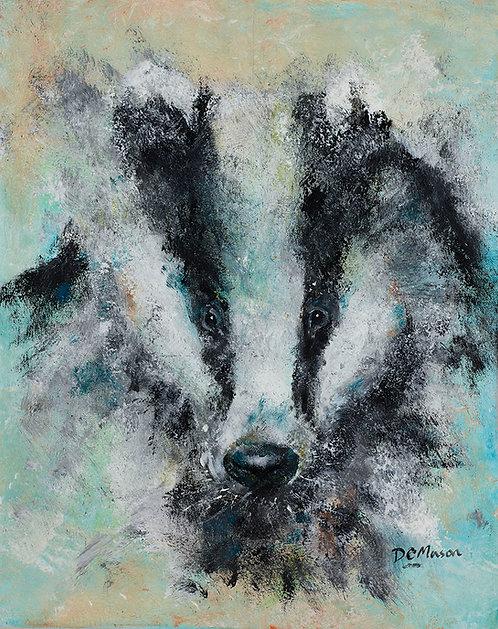 Badger, Signed Giclée Print