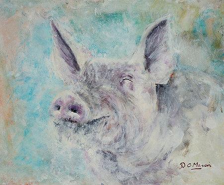 Pig, Signed Giclée Print