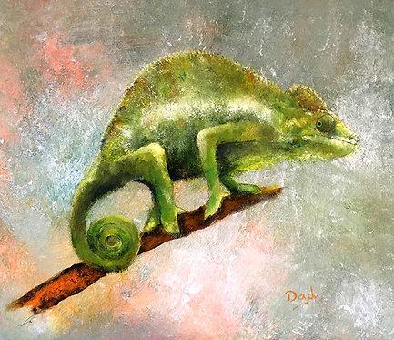 Chameleon, Signed Giclée Print