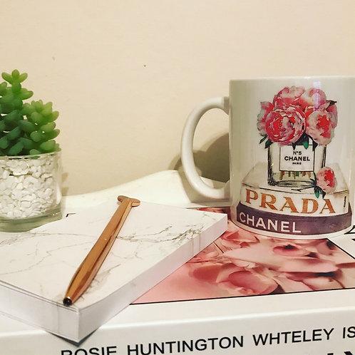 Designer Inspired pink flowers Mug