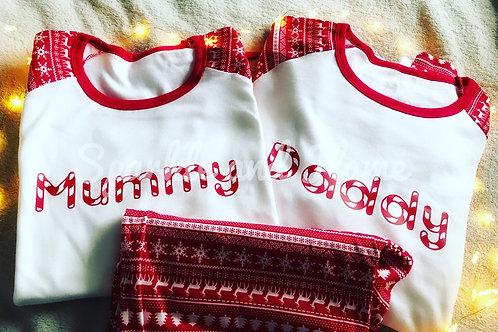 Candy cane Christmas Family Pyjamas - kids