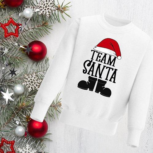 Team Santa Kids Sweatshirt